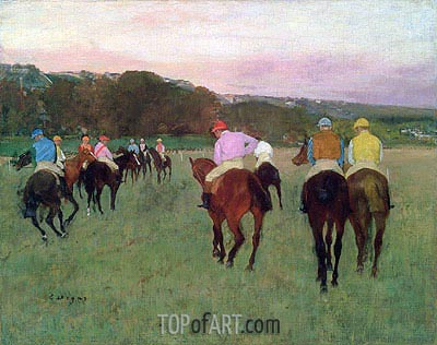 Racehorses at Longchamp, c.1871/74 | Degas | Painting Reproduction