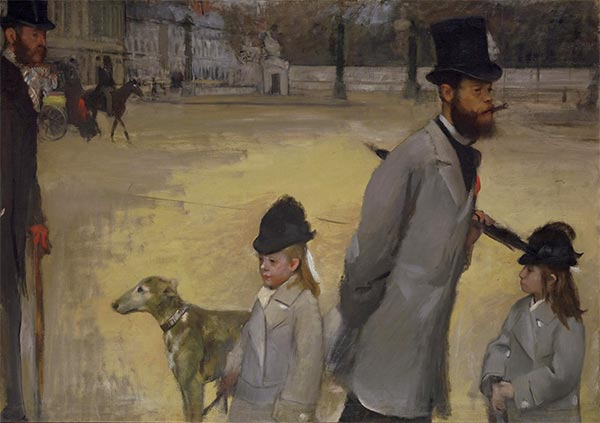 Place de la Concorde, 1875 | Degas | Painting Reproduction