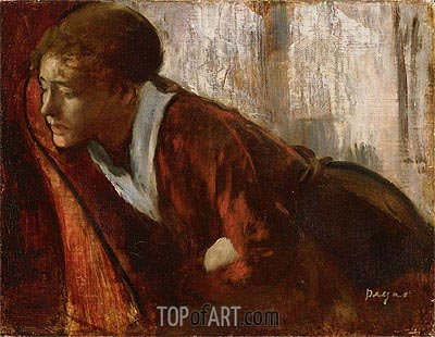 Melancholy, c.1874 | Degas | Painting Reproduction