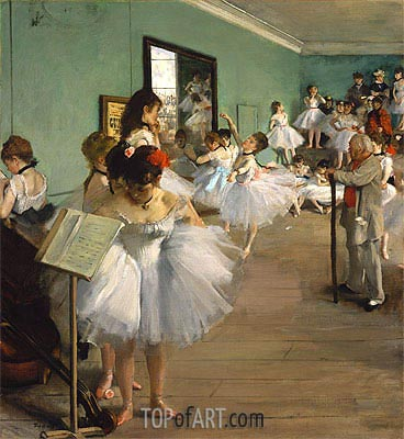 The Dance Class, 1874 | Degas | Painting Reproduction