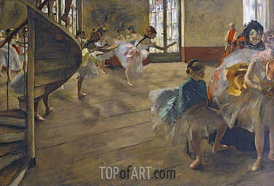 The Rehearsal, c.1877 | Degas | Painting Reproduction