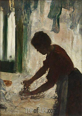 A Woman Ironing (Silhouette), 1873 | Degas | Painting Reproduction