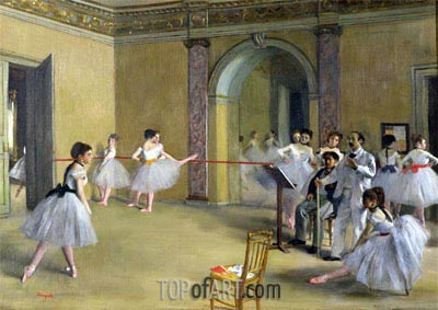 Dance Class at the Opera on Le Peletier Str., 1872 | Degas | Painting Reproduction