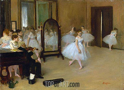 The Dancing Class, c.1870/71 | Degas | Painting Reproduction