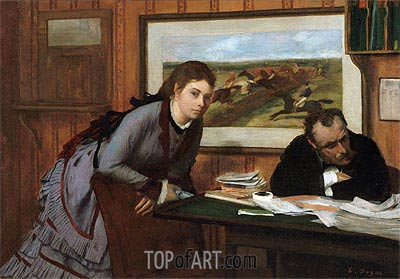 Sulking, c.1870 | Degas | Painting Reproduction
