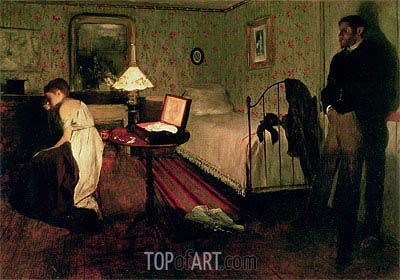 Interior Scene (The Rape), c.1868/69 | Degas | Painting Reproduction