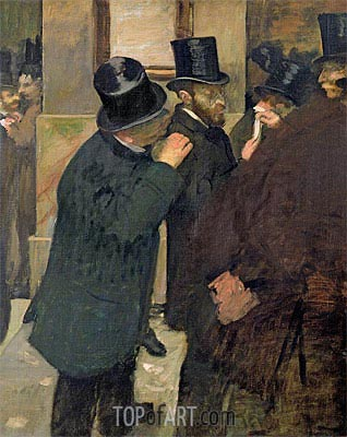 At the Stock Exchange, c.1878/79 | Degas | Painting Reproduction