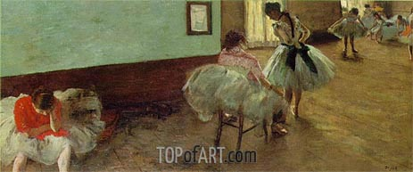 The Dance Lesson, c.1879/80 | Degas | Painting Reproduction