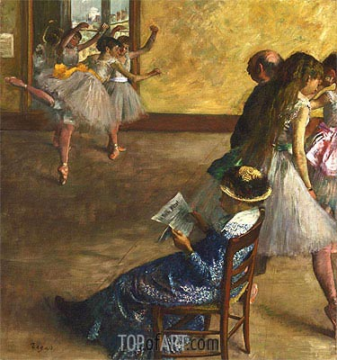 The Ballet Class, c.1880 | Degas | Painting Reproduction