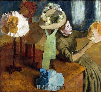 The Millinery Shop, c.1879/86 | Degas | Gemälde Reproduktion