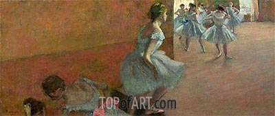 Dancers Ascending a Staircase, c.1886/90 | Degas | Painting Reproduction