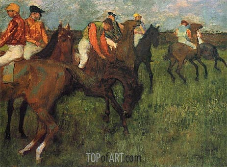 Jockeys, c.1895 | Degas | Painting Reproduction