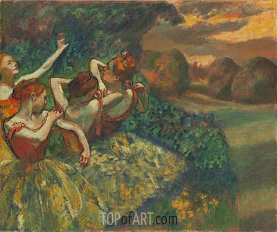 Four Dancers, c.1899 | Degas | Painting Reproduction