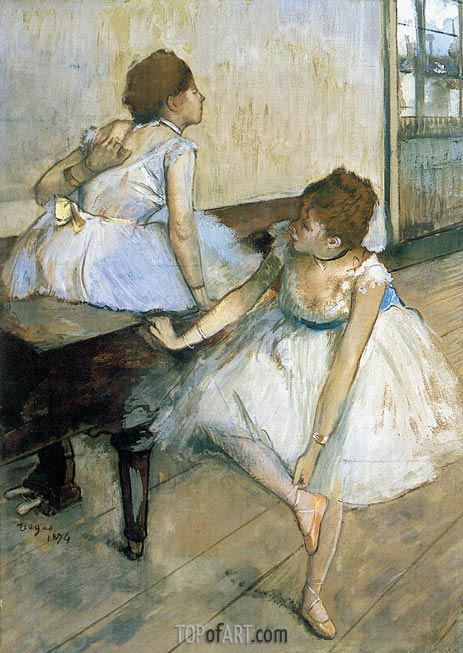 Two Dancers Resting, 1874 | Degas | Gemälde Reproduktion