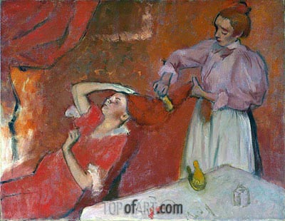 Combing the Hair ('La Coiffure'), c.1896 | Degas | Painting Reproduction