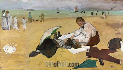 Beach Scene, c.1869/70 | Degas | Painting Reproduction