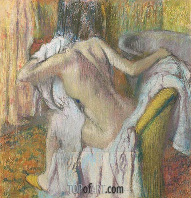 After the Bath, Woman Drying Herself, c.1890/95 | Degas | Gemälde Reproduktion