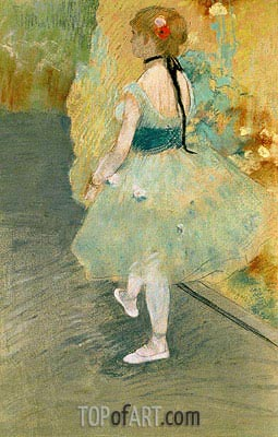 Dancer in Green, undated | Degas | Gemälde Reproduktion