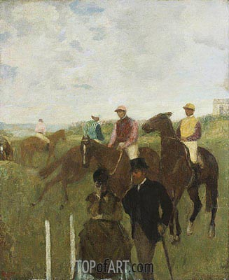 Jockeys at the Racecourse, undated | Degas | Gemälde Reproduktion