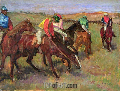 Before the Race, c.1882 | Degas | Gemälde Reproduktion