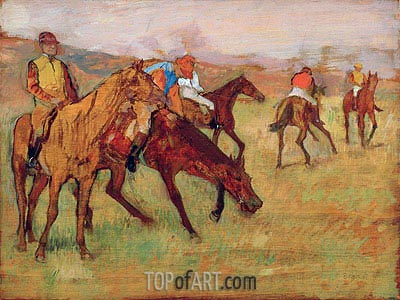 Before the Race, c.1882/84 | Degas | Painting Reproduction