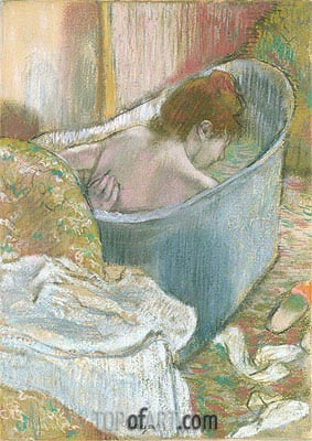 The Bath, undated | Degas | Painting Reproduction
