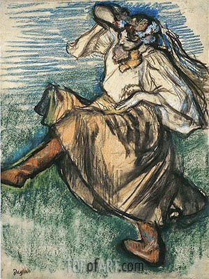 Russian Dancer, 1899 | Degas | Painting Reproduction