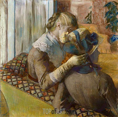 At the Milliner's, 1881 | Degas | Gemälde Reproduktion