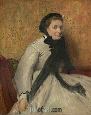 Portrait of a Woman in Gray, c.1865 | Degas | Gemälde Reproduktion