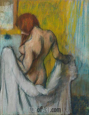 Woman with a Towel, c.1894/98 | Degas | Painting Reproduction