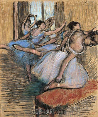 The Dancers, undated | Degas | Gemälde Reproduktion