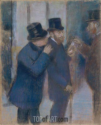 Portraits at the Stock Exchange, c.1878/79 | Degas | Gemälde Reproduktion