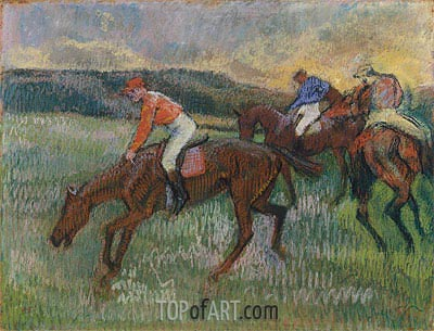 Three Jockeys, c.1900 | Degas | Painting Reproduction