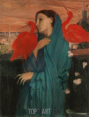 Young Woman with Ibis, c.1860/62 | Degas | Gemälde Reproduktion
