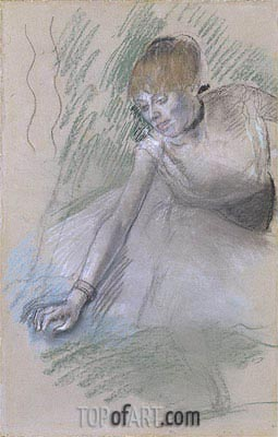 Dancer, c.1880/85 | Degas | Gemälde Reproduktion