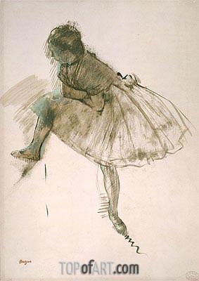 Study of a Ballet Dancer, c.1873 | Degas | Painting Reproduction