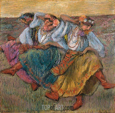 Russian Dancers, 1899 | Degas | Painting Reproduction