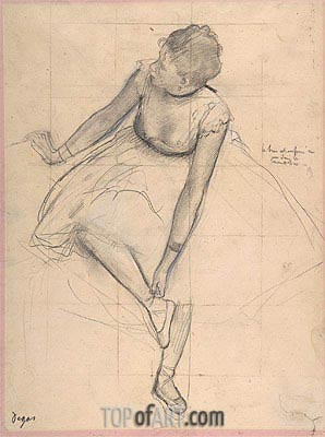 Dancer Adjusting Her Slipper, 1873 | Degas | Gemälde Reproduktion