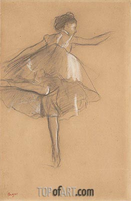 Dancer on Pointe, c.1878 | Degas | Painting Reproduction