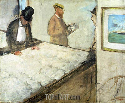 Cotton Merchants in New Orleans, 1873 | Degas | Painting Reproduction