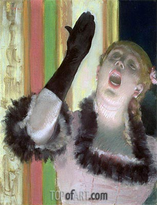 Cafe singer, c.1878 | Degas | Painting Reproduction