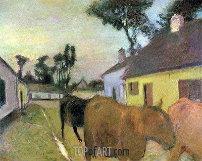 Return of the Herd, undated | Degas | Painting Reproduction