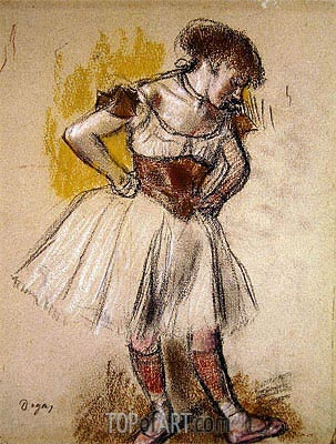 Dancer, c.1880 | Degas | Painting Reproduction