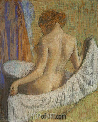 After the Bath, Woman with a Towel, c.1885/90 | Degas | Painting Reproduction