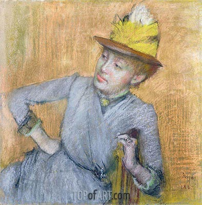 Seated Woman, 1887 | Degas | Painting Reproduction