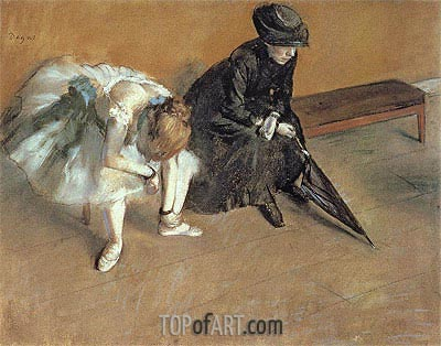 Waiting, c.1880/82 | Degas | Painting Reproduction