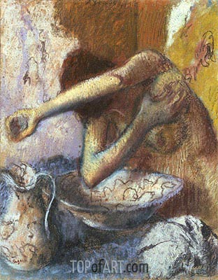 Woman at her Toilet, c.1887 | Degas | Gemälde Reproduktion