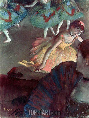 Ballerina and Lady with a Fan, 1885 | Degas | Gemälde Reproduktion