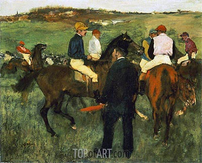 Racehorses (Leaving the Weighing), c.1874/78 | Degas | Painting Reproduction