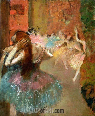 Ballet Scene, undated | Degas | Painting Reproduction